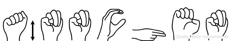 Ännchen im Fingeralphabet der Deutschen Gebärdensprache