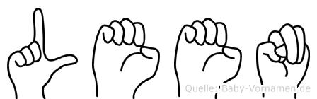 Leen in Fingersprache für Gehörlose