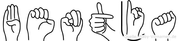 Bentja in Fingersprache für Gehörlose