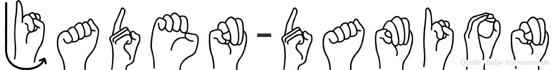 Jaden-Damion im Fingeralphabet der Deutschen Gebärdensprache