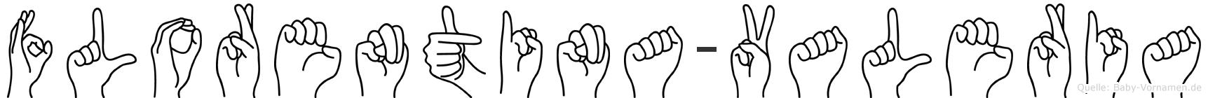 Florentina-Valeria im Fingeralphabet der Deutschen Gebärdensprache