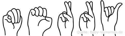Merry in Fingersprache für Gehörlose
