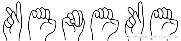 Keneke in Fingersprache für Gehörlose
