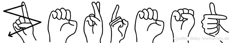 Zerdest in Fingersprache für Gehörlose
