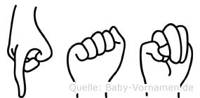 Pan in Fingersprache für Gehörlose