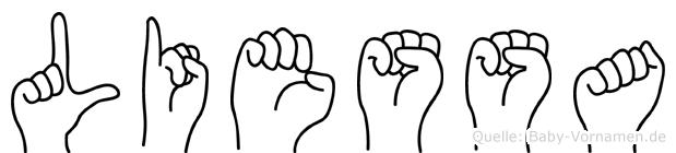 Liessa in Fingersprache für Gehörlose