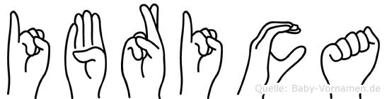 Ibrica in Fingersprache für Gehörlose