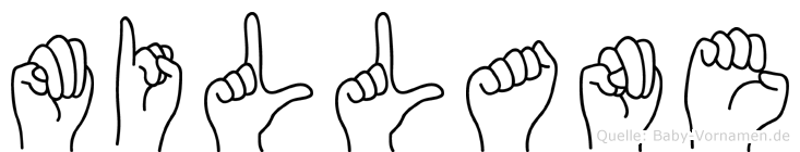 Millane im Fingeralphabet der Deutschen Gebärdensprache