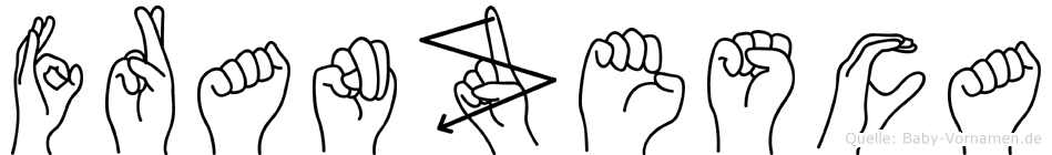 Franzesca im Fingeralphabet der Deutschen Gebärdensprache