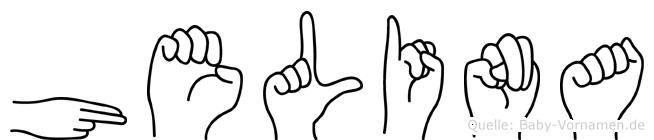 Helina im Fingeralphabet der Deutschen Gebärdensprache