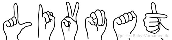 Livnat im Fingeralphabet der Deutschen Gebärdensprache
