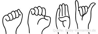 Aeby in Fingersprache für Gehörlose