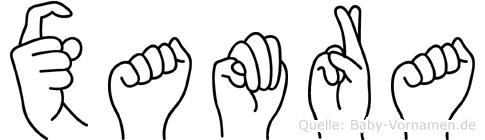 Xamra im Fingeralphabet der Deutschen Gebärdensprache