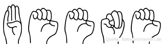 Beene in Fingersprache für Gehörlose