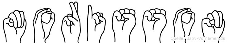 Morisson im Fingeralphabet der Deutschen Gebärdensprache
