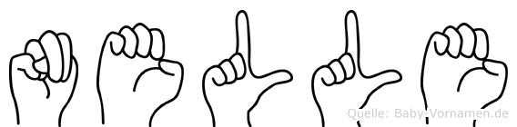 Nelle im Fingeralphabet der Deutschen Gebärdensprache