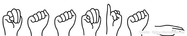 Naamiah in Fingersprache für Gehörlose