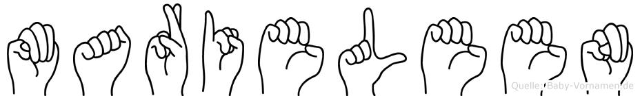 Marieleen im Fingeralphabet der Deutschen Gebärdensprache