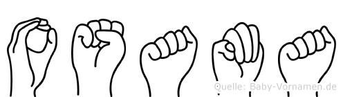 Osama im Fingeralphabet der Deutschen Gebärdensprache