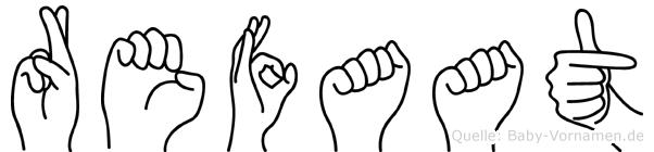 Refaat im Fingeralphabet der Deutschen Gebärdensprache