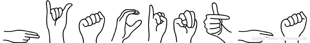 Hyacintha in Fingersprache für Gehörlose