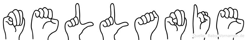 Mellanie in Fingersprache für Gehörlose