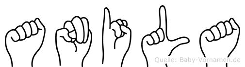 Anila in Fingersprache für Gehörlose