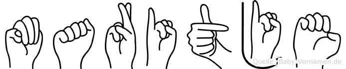 Maritje in Fingersprache für Gehörlose