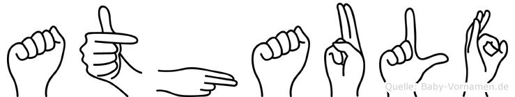 Athaulf in Fingersprache für Gehörlose