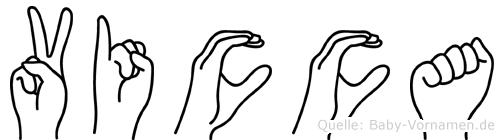 Vicca in Fingersprache für Gehörlose
