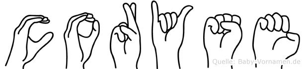 Coryse in Fingersprache für Gehörlose