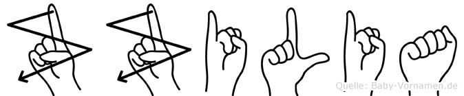 Zäzilia in Fingersprache für Gehörlose