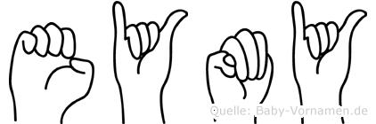 Eymy in Fingersprache für Gehörlose