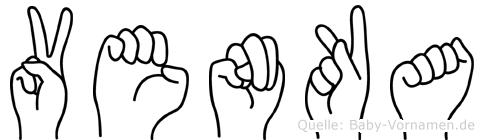 Venka im Fingeralphabet der Deutschen Gebärdensprache