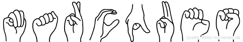 Marcques in Fingersprache für Gehörlose