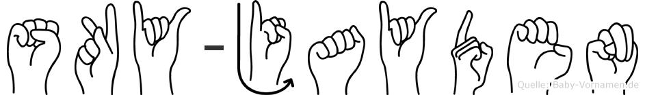 Sky-Jayden im Fingeralphabet der Deutschen Gebärdensprache