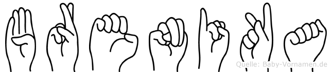 Brenika in Fingersprache für Gehörlose