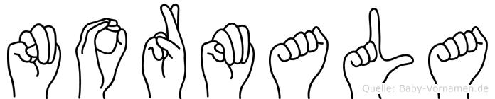 Normala im Fingeralphabet der Deutschen Gebärdensprache