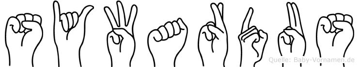 Sywardus in Fingersprache für Gehörlose