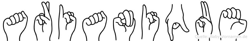 Arianique in Fingersprache für Gehörlose