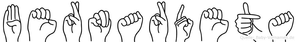 Bernardeta in Fingersprache für Gehörlose