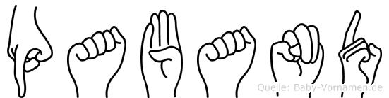 Paband in Fingersprache für Gehörlose