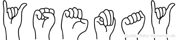 Ysemay im Fingeralphabet der Deutschen Gebärdensprache