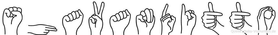 Shavanditto im Fingeralphabet der Deutschen Gebärdensprache