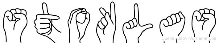 Stoklas in Fingersprache für Gehörlose