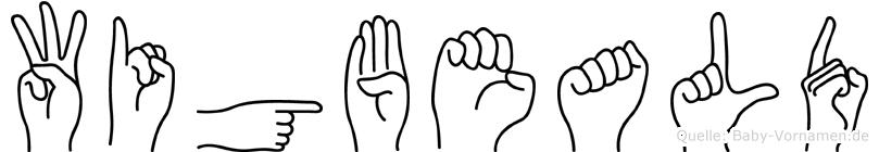 Wigbeald in Fingersprache für Gehörlose
