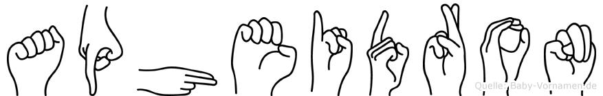 Apheidron in Fingersprache für Gehörlose
