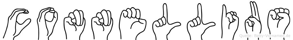 Connellius im Fingeralphabet der Deutschen Gebärdensprache