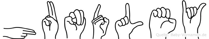 Hundley im Fingeralphabet der Deutschen Gebärdensprache