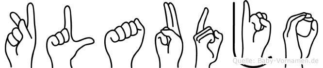 Klaudjo in Fingersprache für Gehörlose